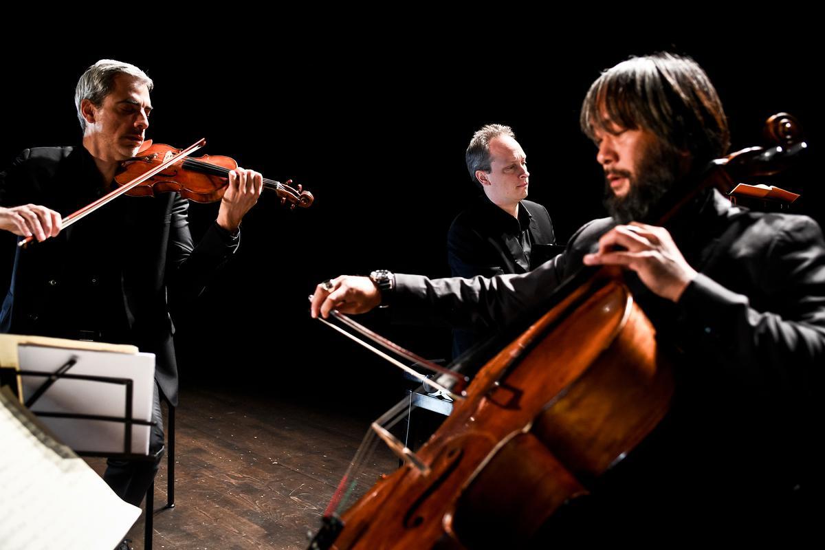 Le trio Talweg sur scène